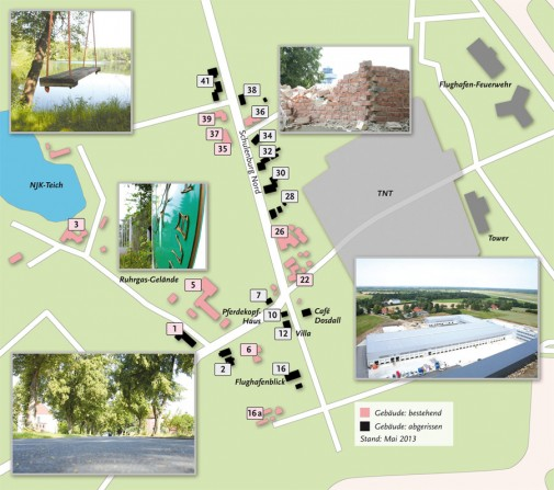Schulenburg Nord – Kartenansicht mit Hausnummern (Stand: Mai 2013)