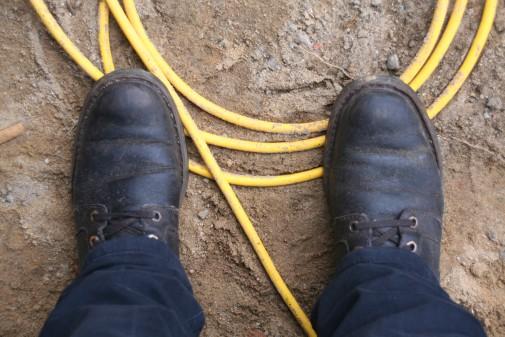 Und wieder Kabel unter den Füßen. Doch diesmal wird geblieben.